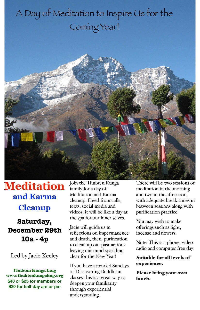Join the Thubten Kunga Family for Meditation and Cleanup Day